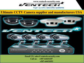 Ultimate CCTV Camera supplier and manufacturers USA
