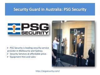 Security Guards - Psg Security