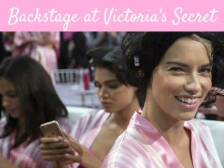 Backstage at Victoria's Secret
