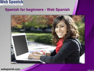 Spanish for beginners web spanish