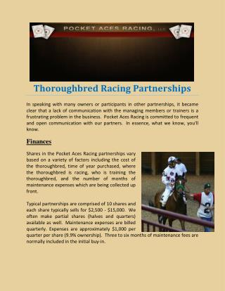 Thoroughbred Racing Partnerships
