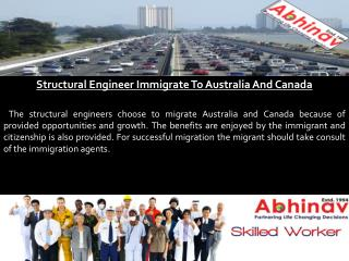Structural Engineer Immigrate To Australia And Canada
