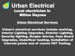 Domestic Electricians Milton Keynes - Urban Electrical Services