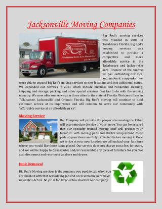 Jacksonville Moving Companies