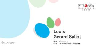 Louis Gerard Saliot | Living Legend in Tourism(EAM Group)