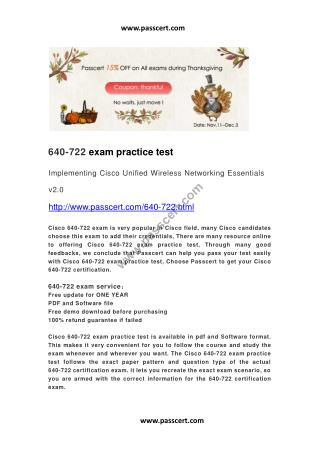 Cisco 640-722 practice test