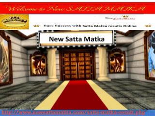Satta Matka King result