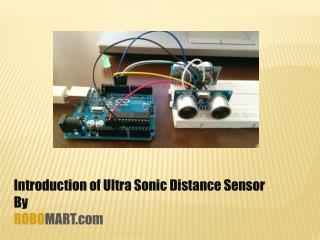 Buy Ultrasonic Distance Sensor for Arduino - Robomart India