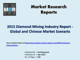 Diamond Mining Industry 2015-2020 Global Research Report