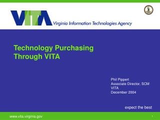 Technology Purchasing Through VITA