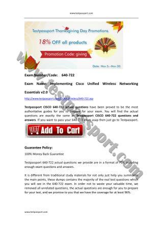 Cisco CCNA Wireless 640-722 exam torrent.pdf