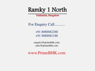 Ramky 1 North, Yelahanka, Bangalore