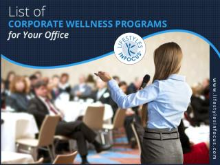 Importance of Corporate Wellness Programs