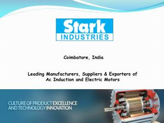 Electric Motor Manufacturers In India