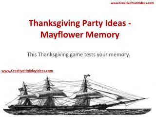 Thanksgiving Party Ideas - Mayflower Memory