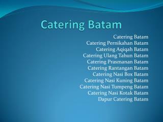 Catering batam
