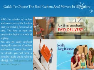 Professional packers and mover in bangalore