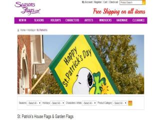 Buy Winter Garden Flags Online