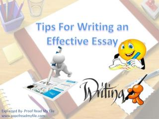 Tips for Writing an Effective Essay