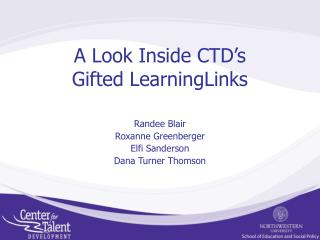 A Look Inside CTD s Gifted LearningLinks