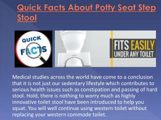 Quick Facts About Potty Seat Step Stool