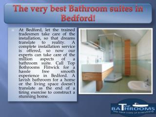 The very best Bathroom suites in Bedford