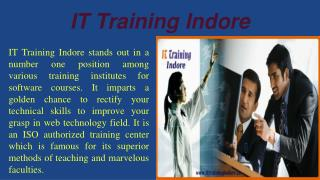 Industrial Training in PHP,  SEO and Web design- IT Training Indore
