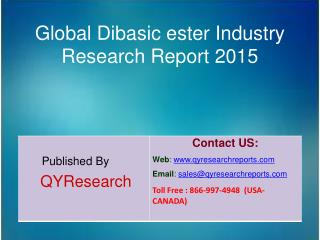 Global Dibasic ester Market 2015 Industry Growth, Trends, Development, Research and  Analysis