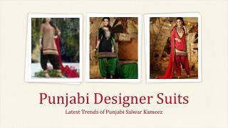 Latest Punjabi Designer Suits Online shopping in India