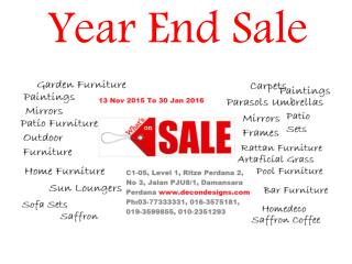 Year End Sale, Warehouse sale, Clearance sale,