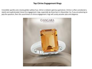 Top Citrine Engagement Rings