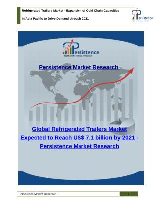 Refrigerated Trailers Market - Global Size, Share, Trend and Analysis to 2021