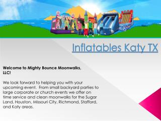 Inflatable Slide Rentals In Katy