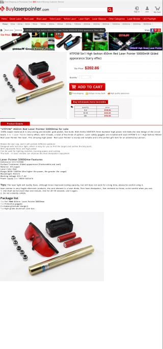 5in1 High fashion 450nm Red Laser Pointer