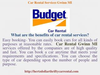 Car Rental Services Gwinn MI