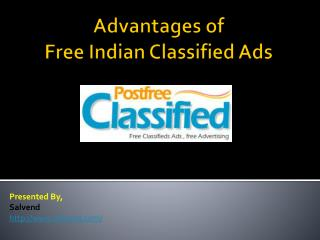 Advantages of Free Indian Classified Ads