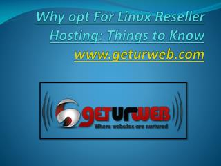 Linux reseller hosting plan With Geturweb