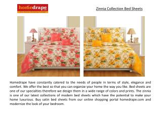 Zinnia Collection Bed Sheets