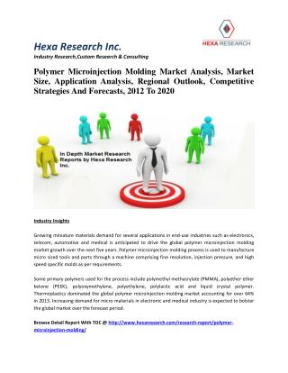 Polymer Microinjection Molding Market Size, Market Share, Application Analysis, Regional Outlook, Growth, Trends, Compet