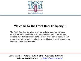 Entry doors the frontdoorco.com