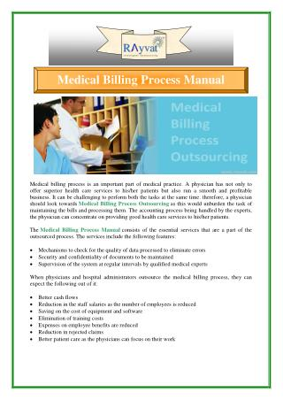 Importance of Medical Billing Process Outsourcing