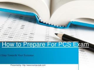 How to prepare for exam