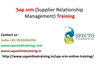 Sap srm training in london,singapore,canada,usa,uk,paris,southafrica,australia,india,mumbai,pune.