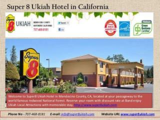 Super 8 UKiah Hotel inCAlifornia