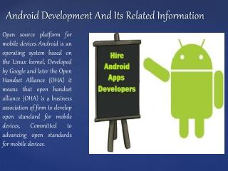 Android developer UK And Its Related Information
