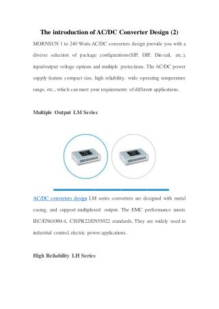 The introduction of AC/DC Converter Design (2)