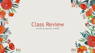 EW2-020 Class Review