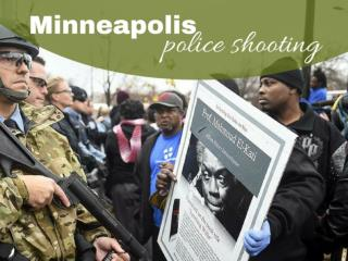 Protests in Minneapolis police shooting