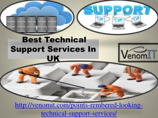 Best Technical Support Services In UK