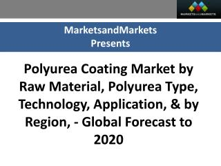 Polyurea Coating Market worth 971.5 Million USD by 2020